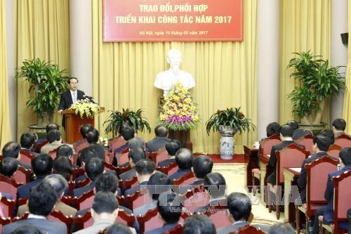 Le president exhorte a rehausser plus la qualite du conseil en strategie hinh anh 2
