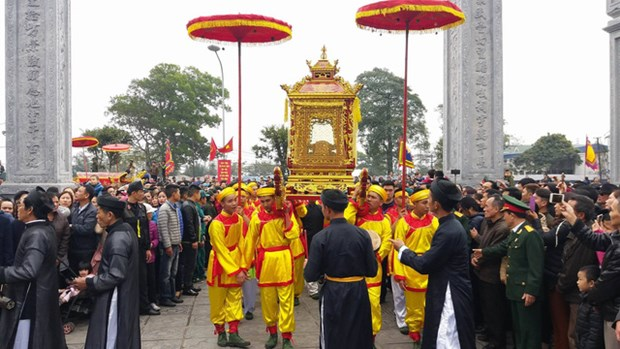 La fete du temple de Cua Ong, patrimoine culturel, attire la foule hinh anh 1