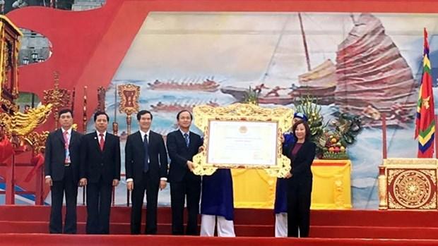 La fete du temple de Cua Ong, patrimoine culturel, attire la foule hinh anh 3