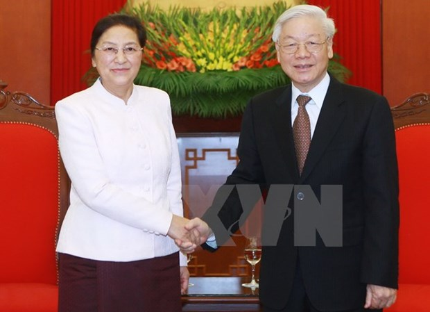 Le secretaire general du PCV reaffirme la solidarite speciale Vietnam-Laos hinh anh 1
