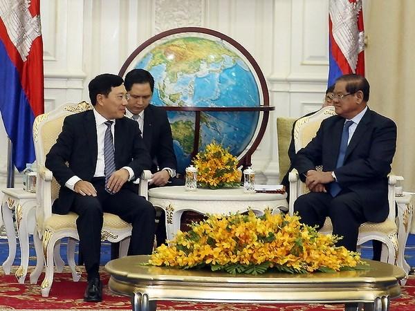 Vietnam et Cambodge achevent bientot la delimitation et le bornage des frontieres hinh anh 1