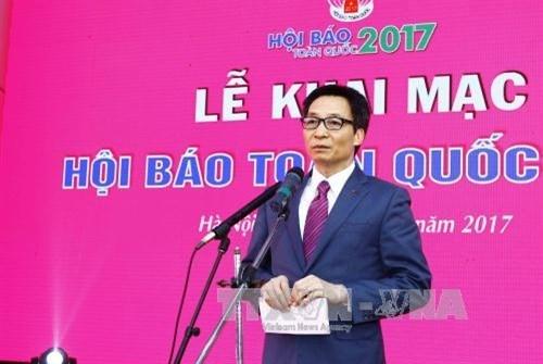 La Fete nationale de la presse 2017 s'ouvre a Hanoi hinh anh 1