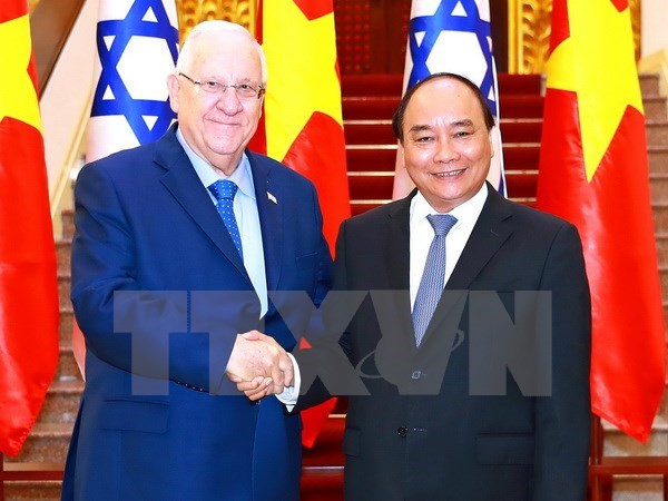 Des dirigeants vietnamiens recoivent le president israelien hinh anh 2