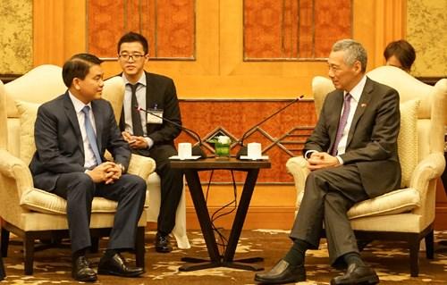 La ville de Hanoi souhaite nouer des liens multisectoriels avec Singapour hinh anh 1