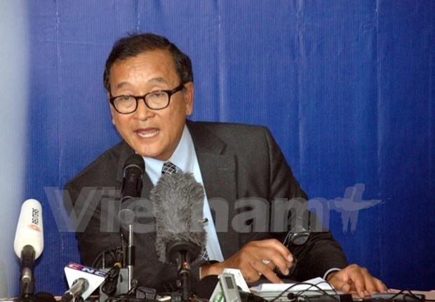 L'opposant cambodgien Sam Rainsy condamne a 20 mois de prison hinh anh 1