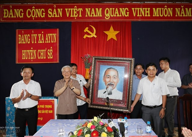 Le secretaire general Nguyen Phu Trong invite Gia Lai a exploiter ses atouts hinh anh 1