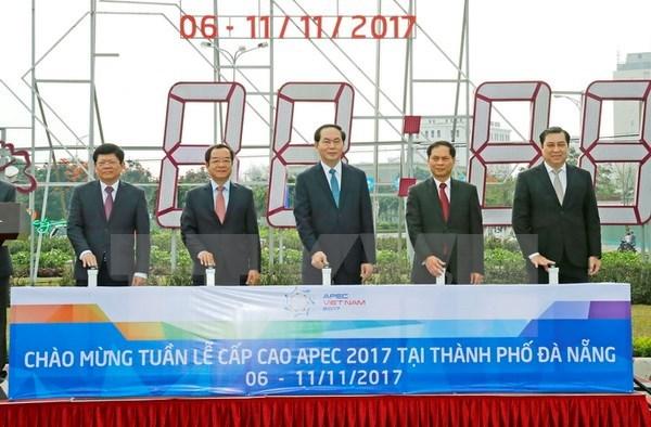 Le president inspecte les preparatifs de la Semaine des dirigeants de l'APEC hinh anh 1