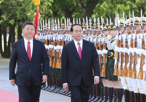 Le president Tran Dai Quang acheve une visite fructueuse en Chine hinh anh 1