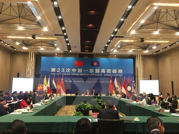 Reunion consultative des hauts officiels ASEAN-Chine hinh anh 1