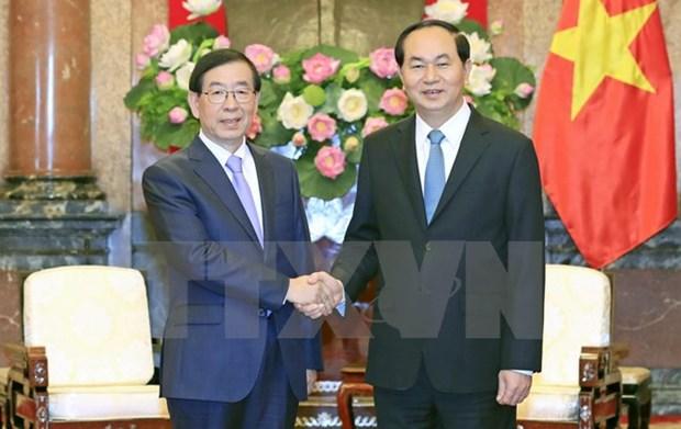 Des dirigeants vietnamiens recoivent l'envoye special du president sud-coreen hinh anh 2