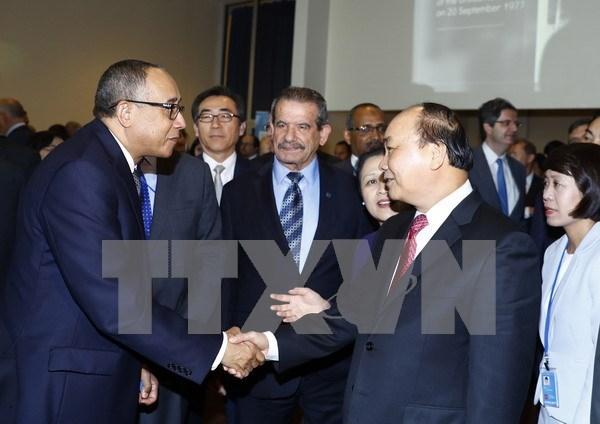 Le PM Nguyen Xuan Phuc celebre les 40 ans du Vietnam a l'ONU hinh anh 1