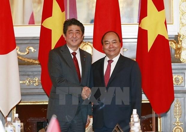 Declaration commune visant a approfondir le partenariat strategique etendu Vietnam-Japon hinh anh 1