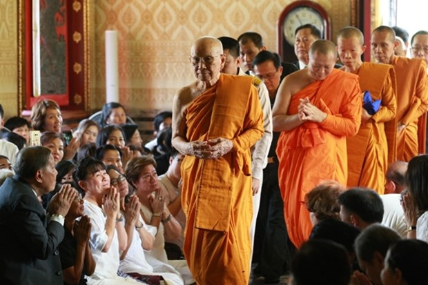 Le patriarche supreme de Thailande salue les liens avec l'Eglise bouddhique du Vietnam hinh anh 1