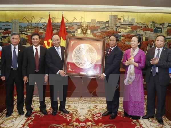 Le chef du gouvernement exhorte Hai Phong a devenir un pole de croissance hinh anh 1