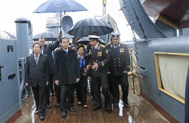 Le president Tran Dai Quang poursuit ses activites a Saint-Petersbourg hinh anh 1