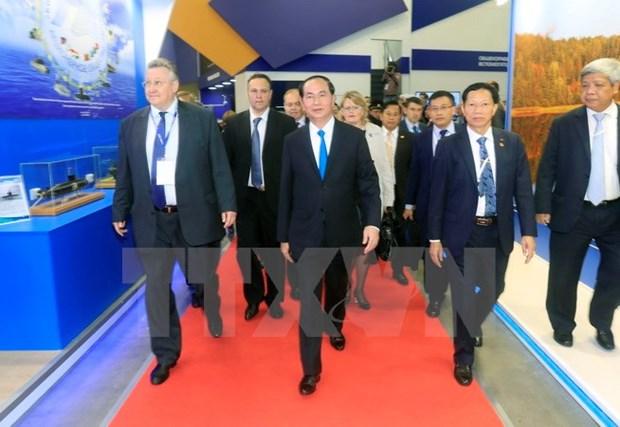 Le president Tran Dai Quang termine sa visite officielle en Russie hinh anh 1