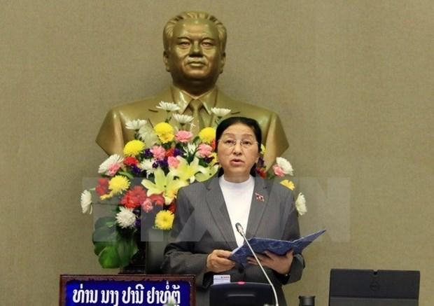 La presidente de l'AN laotienne en visite au Vietnam hinh anh 1