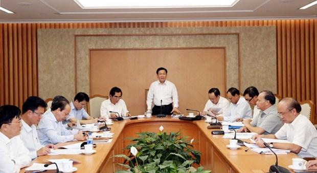 Vuong Dinh Hue demande d'accelerer le decaissement des investissements publics hinh anh 1