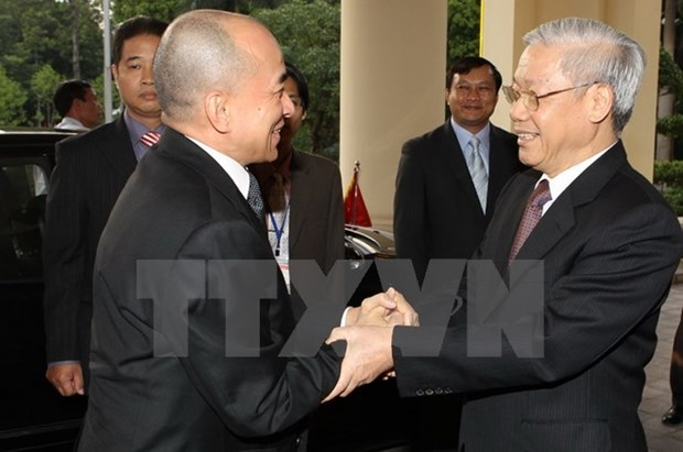 Le secretaire general Nguyen Phu Trong au Cambodge pour une visite historique hinh anh 1