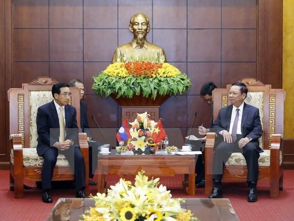Le vice-president laotien Phankham Viphavanh se rend a Hoa Binh hinh anh 1
