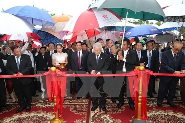 Inauguration du Monument de l'amitie Vietnam - Cambodge hinh anh 1