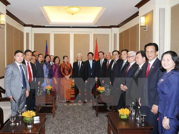 Le secretaire general du PCV rencontre la diaspora vietnamienne au Cambodge hinh anh 1