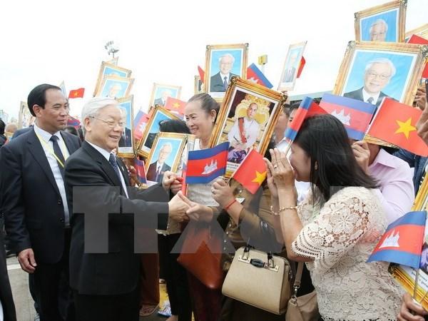 Le secretaire general du PCV termine sa visite d'Etat au Cambodge hinh anh 1