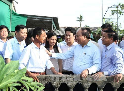 Le PM Nguyen Xuan Phuc exhorte a multiplier les jardins modeles hinh anh 1