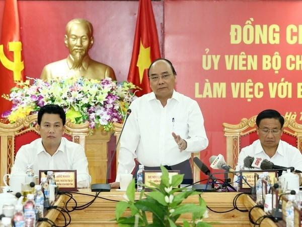Le Premier ministre demande a Ha Tinh de devenir un centre industriel majeur hinh anh 1