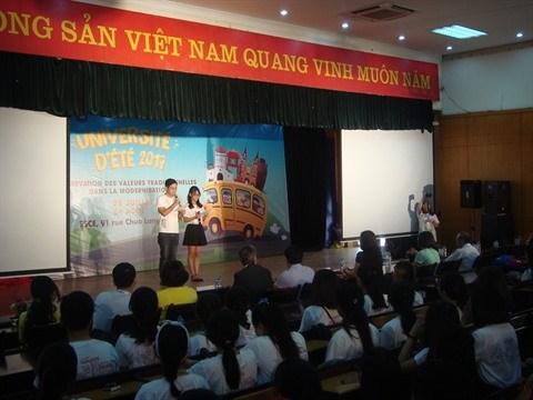 L'Universite d'ete 2017 s'immerge dans la culture traditionnelle vietnamienne hinh anh 1