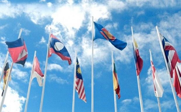 Marche en l'honneur du cinquantenaire de l'ASEAN a Vientiane hinh anh 1