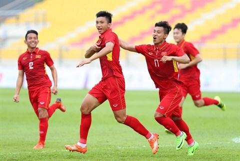 Football : Le Onze vietnamien commence les Jeux d'Asie du Sud-Est avec une large victoire hinh anh 1