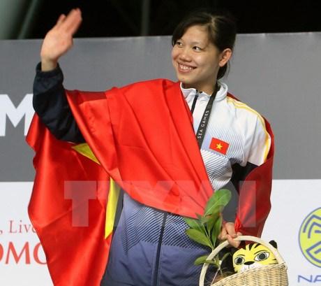 SEA Games 29 : Le Vietnam se maintient en 3e position avec 16 medailles d'or hinh anh 1