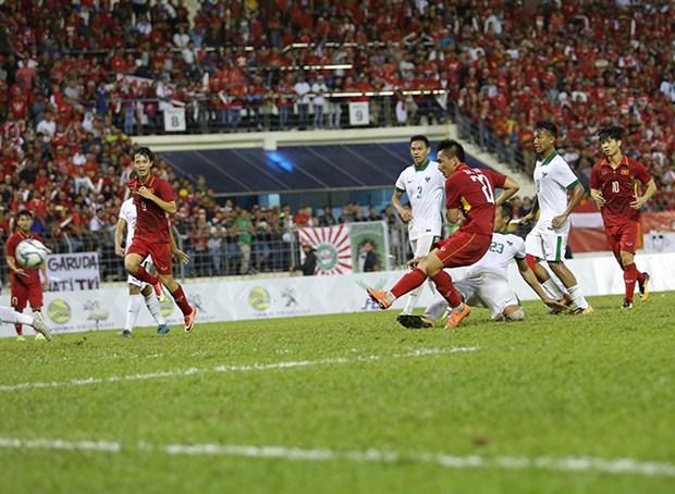 SEA Games 29 – Foot : Le Vietnam et l'Indonesie partagent l'enjeu hinh anh 1