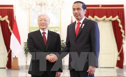 Le leader du PCV convaincu de l'essor des liens Vietnam-Indonesie hinh anh 1