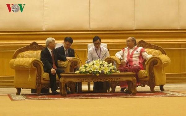 Les liens parlementaires sont importants pour les relations Vietnam-Myanmar hinh anh 1