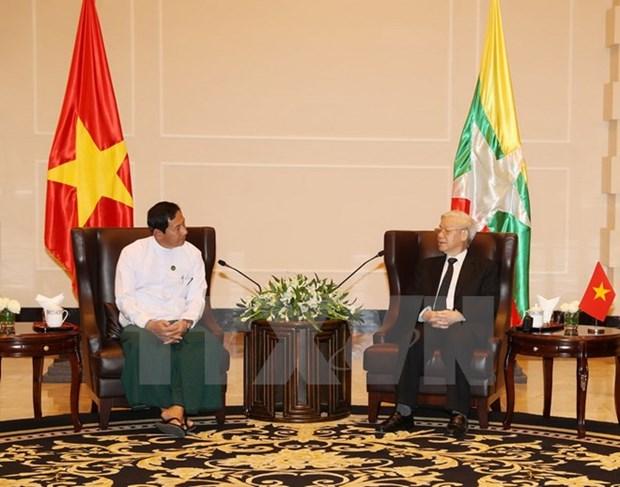 Le resserrement des relations entre le PCV et des Partis birmans hinh anh 1