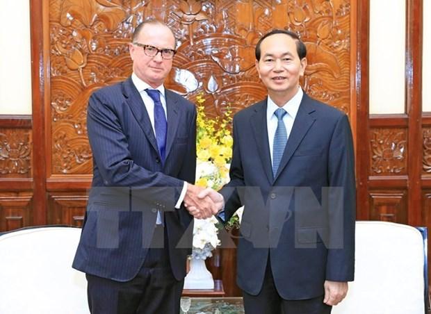 Le president Tran Dai Quang recoit l'ambassadeur d'Autriche hinh anh 1