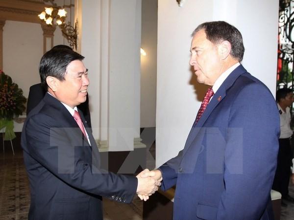 HCM-Ville et Utah promeuvent leur cooperation dans le commerce et les hautes technologies hinh anh 1