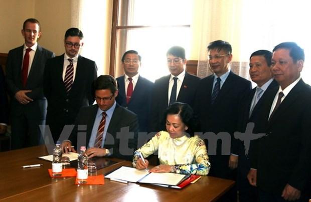 Vietnam-Hongrie : le PCV et le Fidesz scellent leur cooperation hinh anh 1