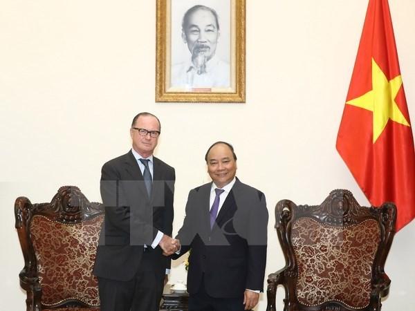 Le Premier ministre Nguyen Xuan Phuc recoit l'ambassadeur d'Autriche au Vietnam hinh anh 1