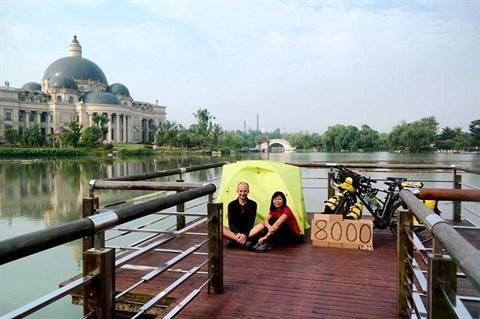 Un couple vietnamo-hongrois et son periple de 11.000 km a velo hinh anh 2