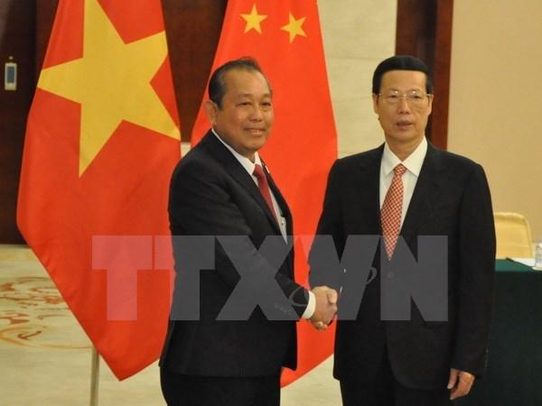 Vietnam-Chine: le vice-PM permanent Truong Hoa Binh rencontre le vice-PM Zhang Gaoli hinh anh 1