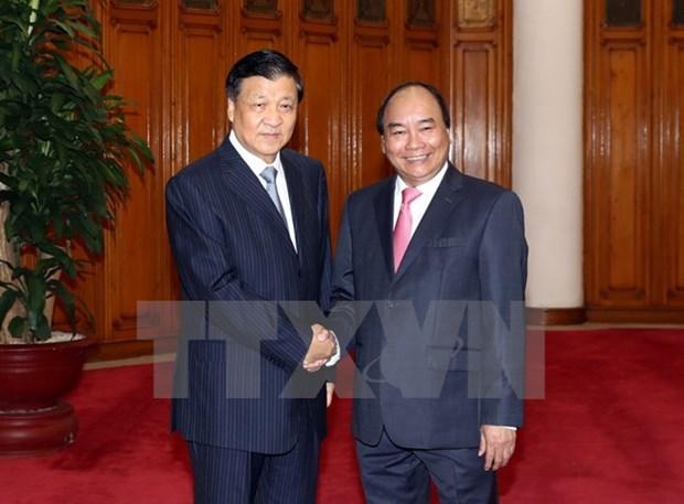Des dirigeants vietnamiens recoivent le haut responsable du Parti communiste chinois Liu Yunshan hinh anh 1