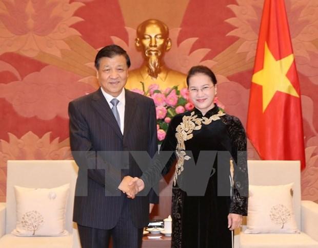 Des dirigeants vietnamiens recoivent le haut responsable du Parti communiste chinois Liu Yunshan hinh anh 2