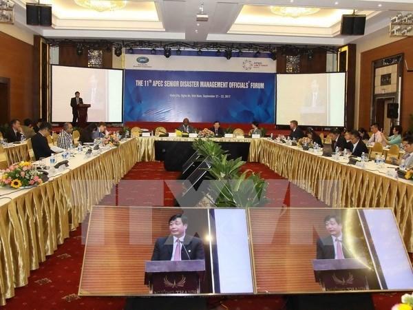 APEC : Cloture de la reunion des hauts officiels sur la gestion des catastrophes naturelles hinh anh 1