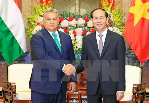 Des dirigeants vietnamiens recoivent le Premier ministre hongrois hinh anh 2