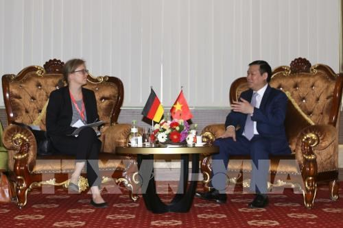 Le vice-PM Vuong Dinh Hue recoit des diplomates allemands hinh anh 2