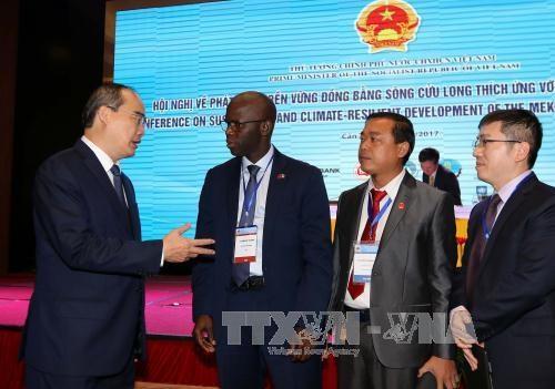 Les partenaires soutiennent le developpement durable du delta du Mekong hinh anh 1