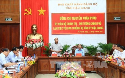 Le PM exhorte Hau Giang a batir une agriculture multifonctionnelle hinh anh 1